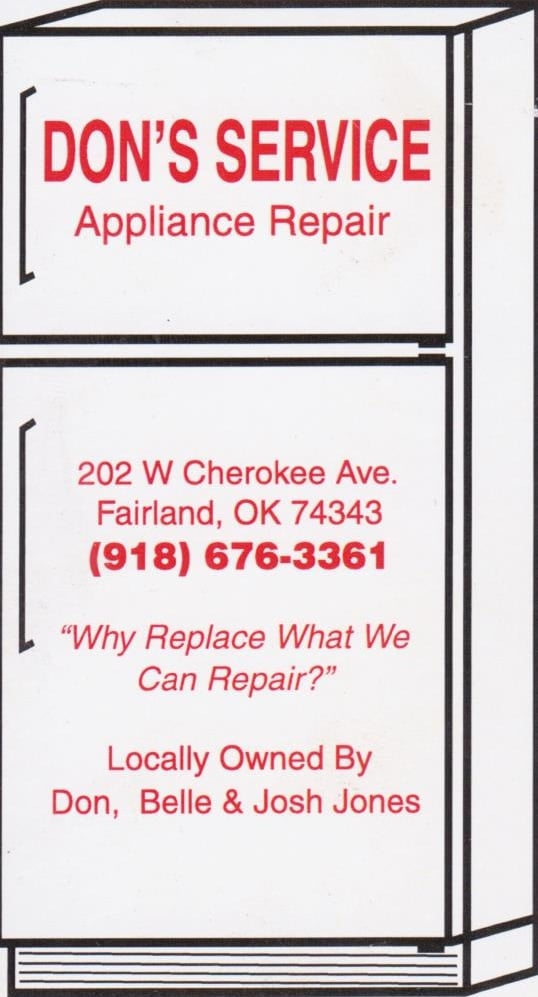 Don's Service Appliance Repair: Fairland, OK