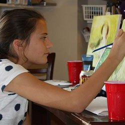 Photo Of Allan Fine Art Academy Charlotte Nc United States A Middle School Student Painting