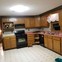 Photo Of Log Kitchens Refacing Buffalo Ny United States Before