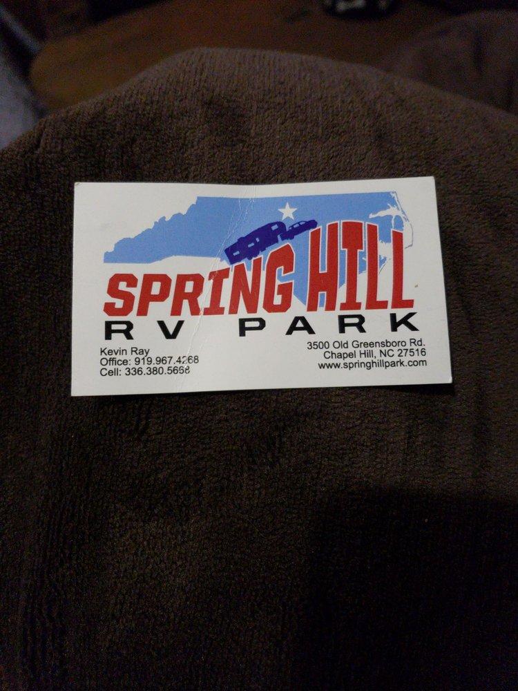 Springhill RV Park: 3500 Old Greensboro Rd, Chapel Hill, NC