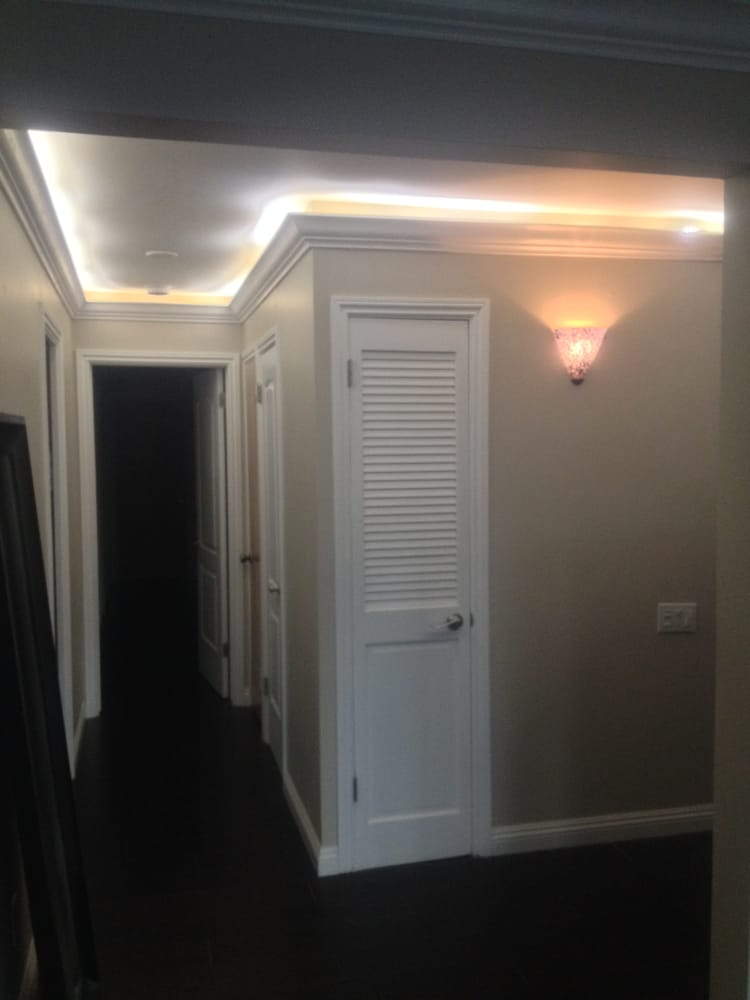Dropped down crown molding and installed led rope lighting photo of all service handyman and electric long beach ca united states aloadofball Choice Image