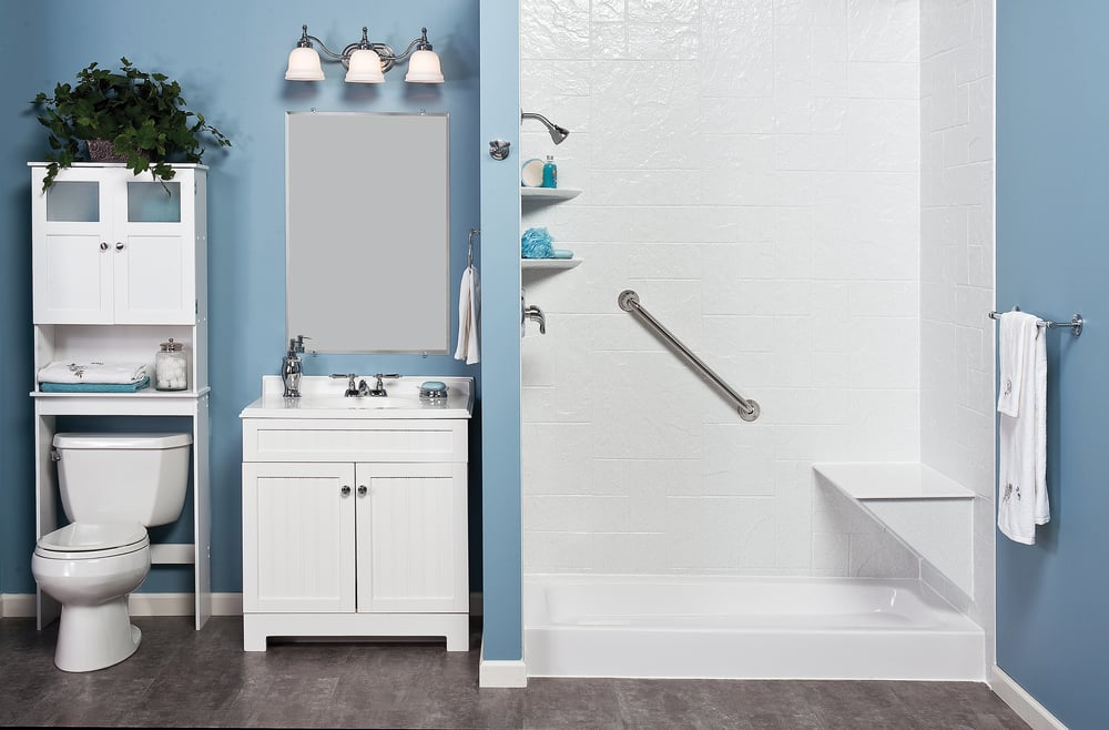 bathroom cabinets las vegas reborn bath solutions can take your bathroom from ordinary 15644