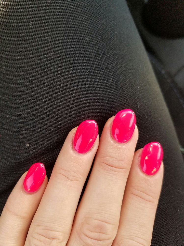 This is not stiletto at all. Round crooked oddly thick nails. - Yelp