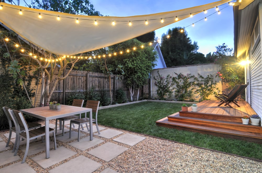 West hollywood back yard remodel yelp for Small patio shade ideas