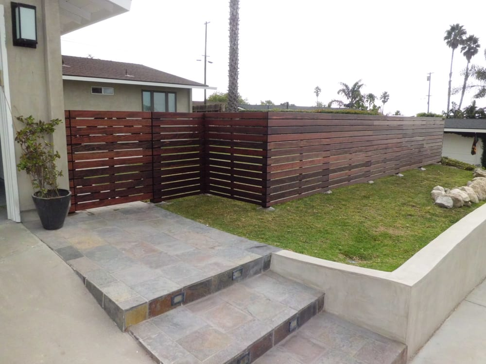 Custom 1 Quot X4 Quot Redwood Horizontal Front Yard Fence
