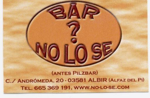 Bar No LO SE: Calle Andromeda 20, Albir, A