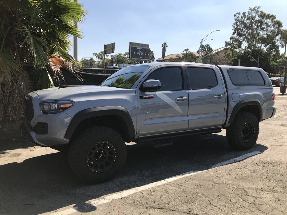 SnugTop Rebel in Cement Grey on my 2017 Tacoma TRD Pro with
