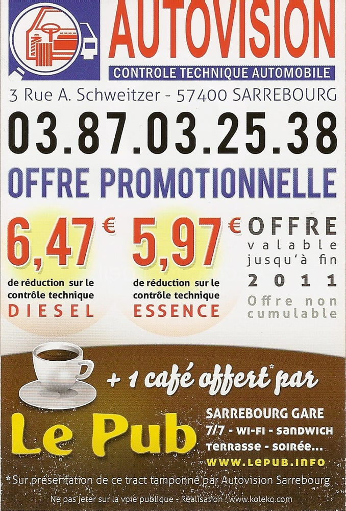 autovision auto reparaturen 3 rue albert schweitzer sarrebourg moselle frankreich. Black Bedroom Furniture Sets. Home Design Ideas