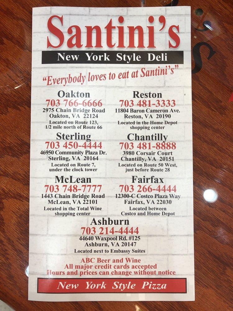 Santini's New York Style Deli: 44640 Waxpool Rd, Ashburn, VA