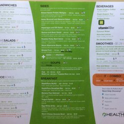 Healthfare Restaurant Menu