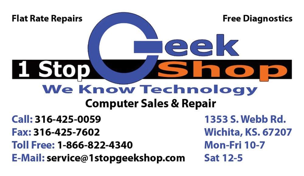 1 Stop Geek Shop: 1353 S Webb Rd, Wichita, KS