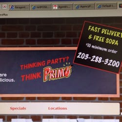 Primo Pizza is currently located at Whitney Ave. Order your favorite pizza, pasta, salad, and more, all with the click of a button. Primo Pizza accepts orders online for pickup and delivery. $ - $ Delivery (35 - 50 min).