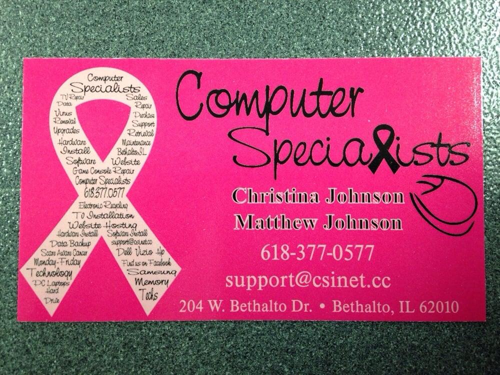 Computer Specialists: 204 W Bethalto Dr, Bethalto, IL