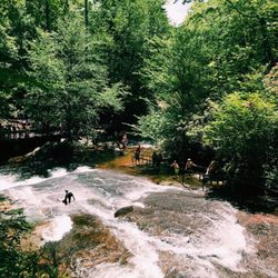 po of sliding rock falls pisgah forest nc united states