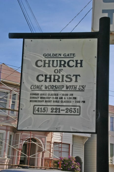 Golden Gate Church of Christ: 701 8th Ave, San Francisco, CA