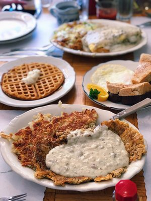 Image result for Chicken Fried Steak Breakfast by Otis Cafe