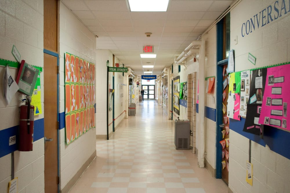Quiet in the hallway! At Emma Conn Elementary School - Yelp