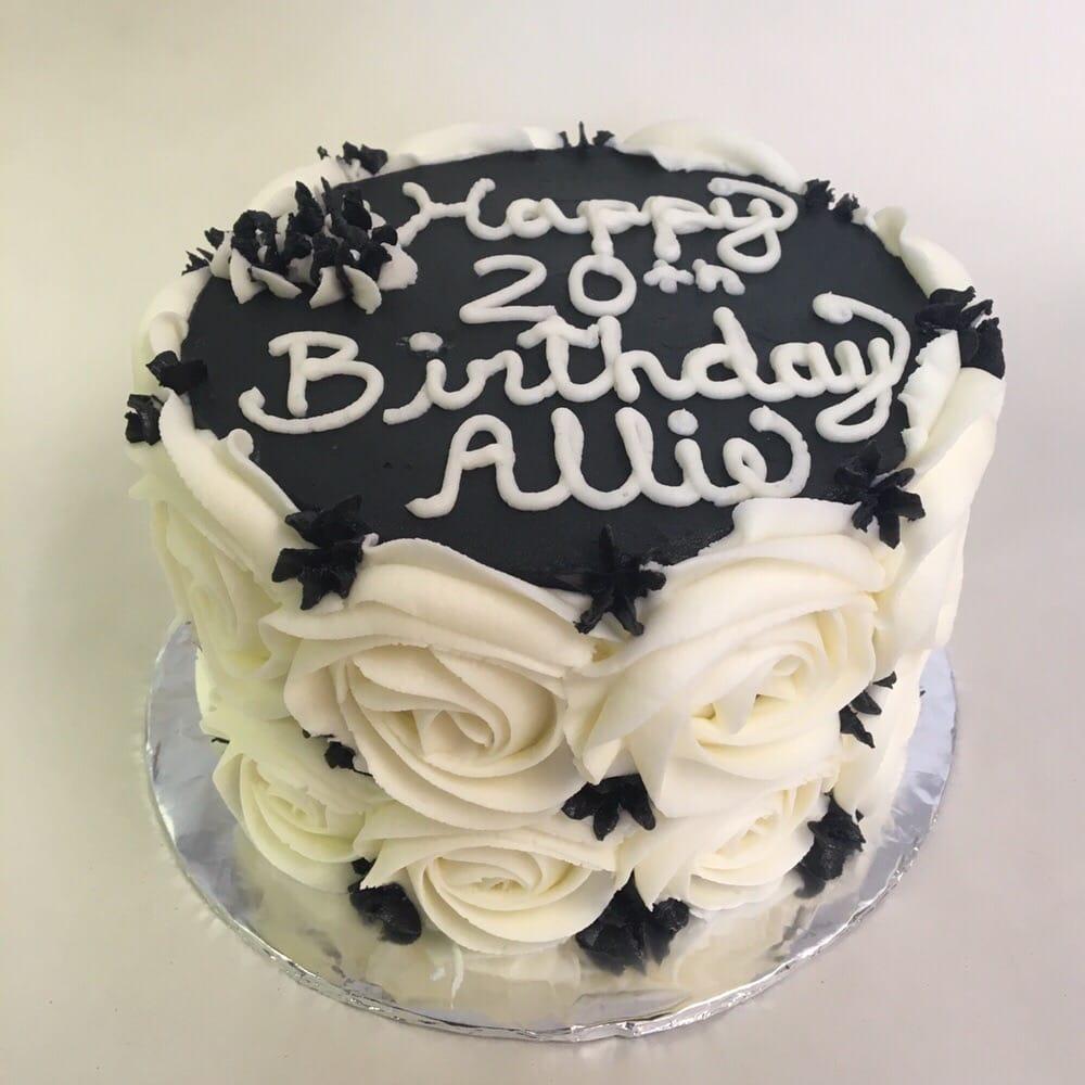 Happy 20th Birthday Allie Vanilla Cake With Cannoli Cream Filling