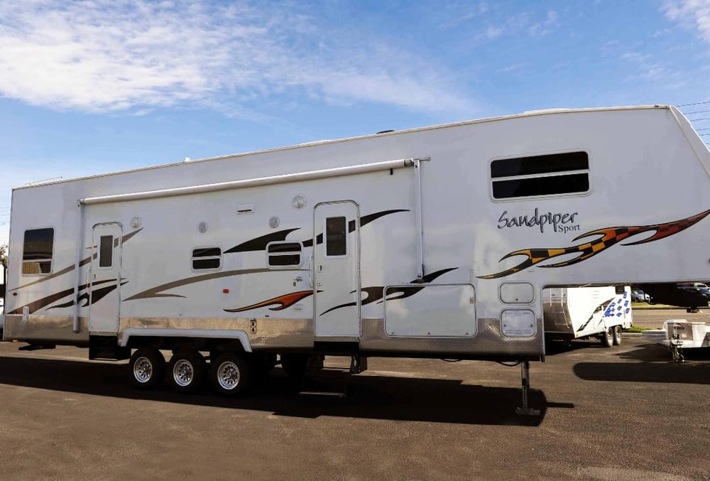 2007 forest river sandpiper garage model 40ft toy hauler 27 900 yelp - Garage for rv model ...