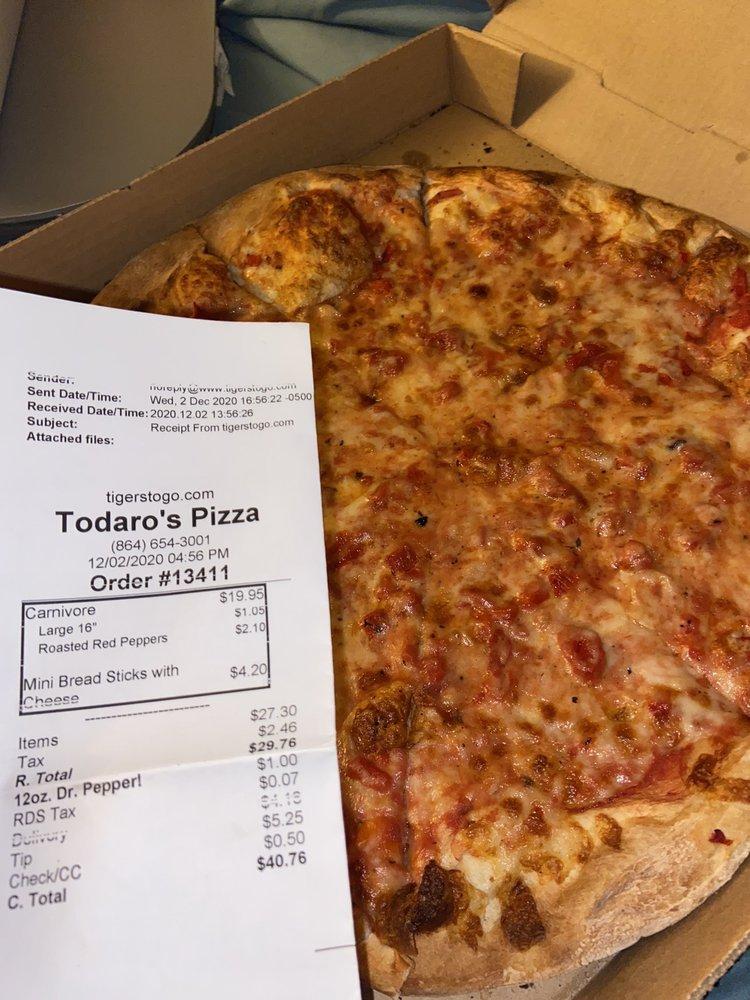 Todaro Pizza: 105 Sloan St, Clemson, SC