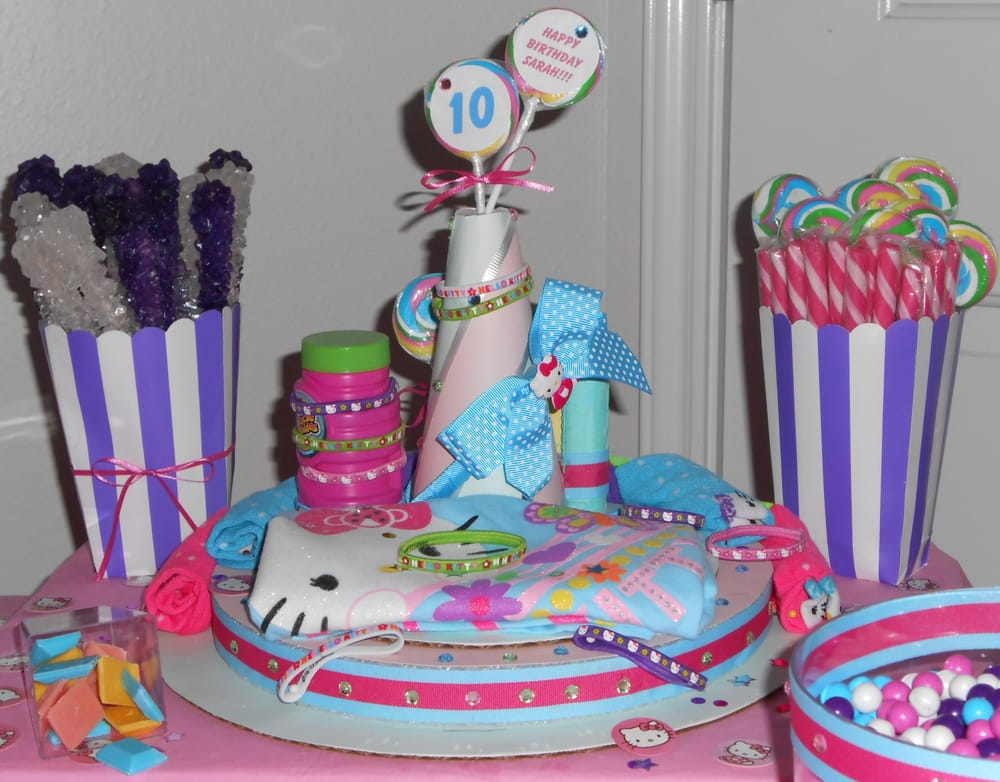 Hello Kitty Candy Bar And Customized Cake Happy Birthday Sarah