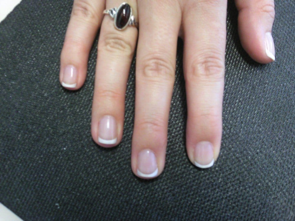 Vickie did a nice job with a french manicure on my natural nails ...