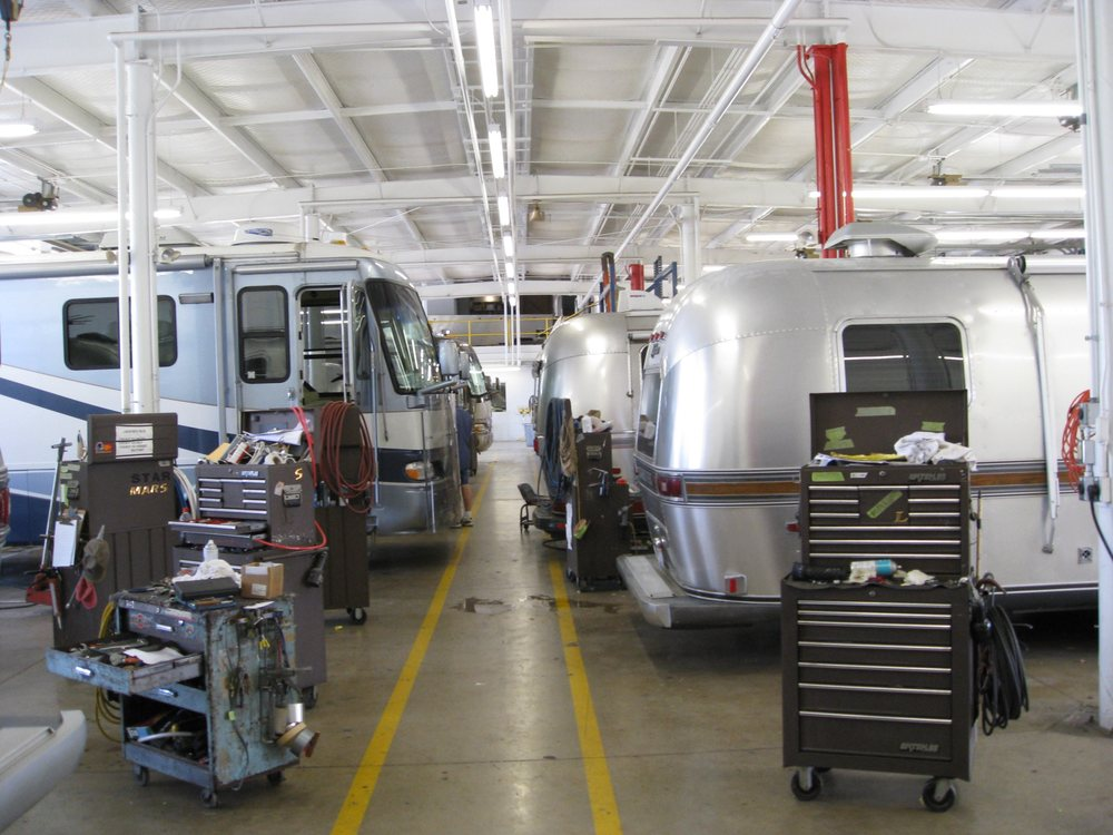 Airstream Factory Service Center: 420 W Pike St, Jackson Center, OH
