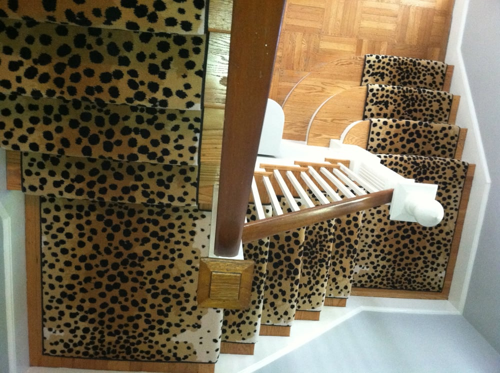 Cheetah Print Wool Carpet Stair Runner Stair Carpet