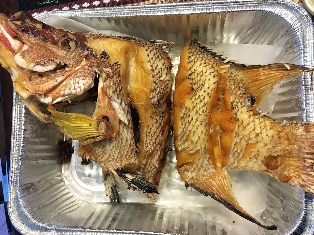 Hogfish snapper fresh caught and deep fried yelp for Pops fish market