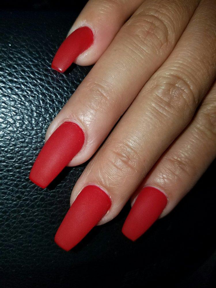 Matte GEL nail fill. Love them $25 - Yelp