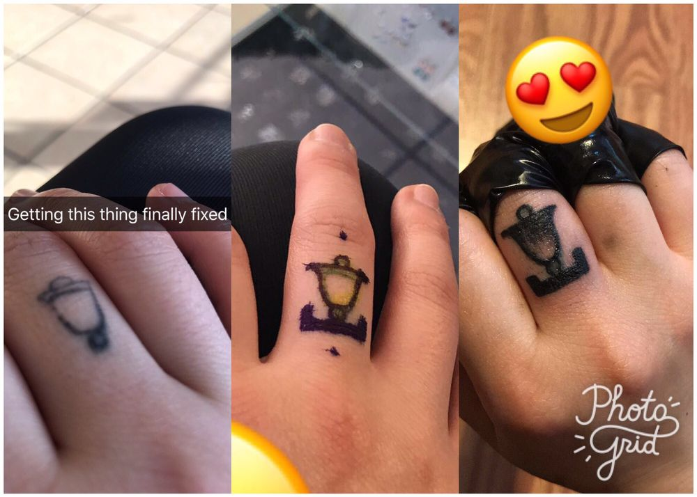 0b77dec2ae220 Got my finger tattoo fixed instead of a touch up and I'm happy with ...