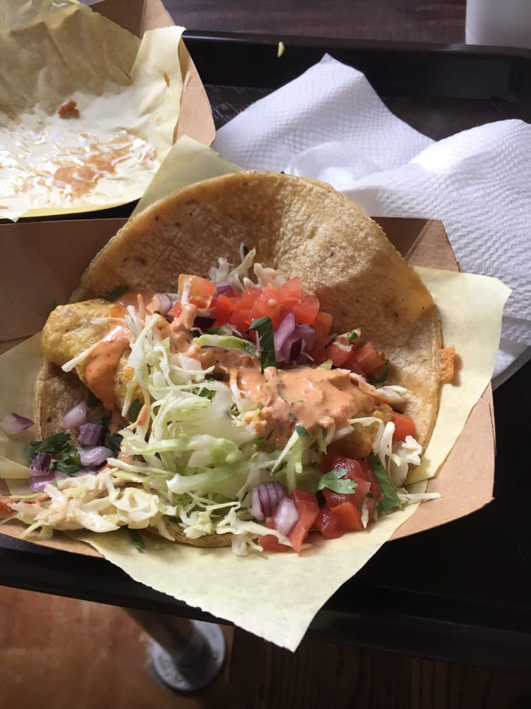 Fish taco with habanero crema dinamita yelp for Oscars fish tacos san diego