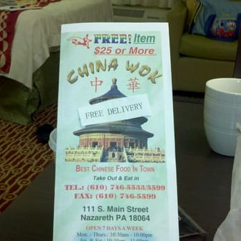 Chinese Food Nazareth Pa In