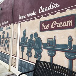 262b8754 Photo of Schneider's Sweet Shop - Bellevue, KY, United States. Mural outside