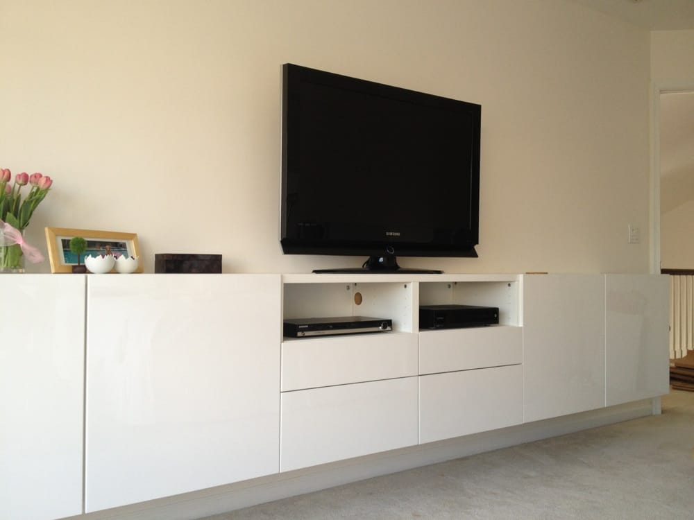 Besta low wall unit yelp for Modele meuble tv