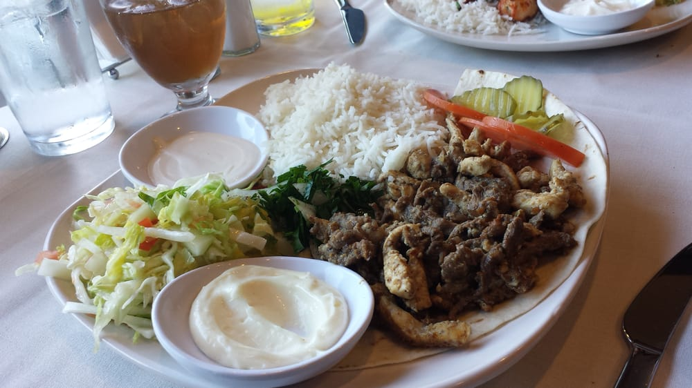 Shawarma mixed beef and chicken yelp for Arz lebanese cuisine