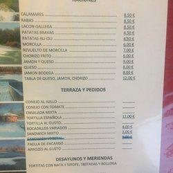 Terraza El Lago Tapas Bars Av Ginebra 8 Castile La