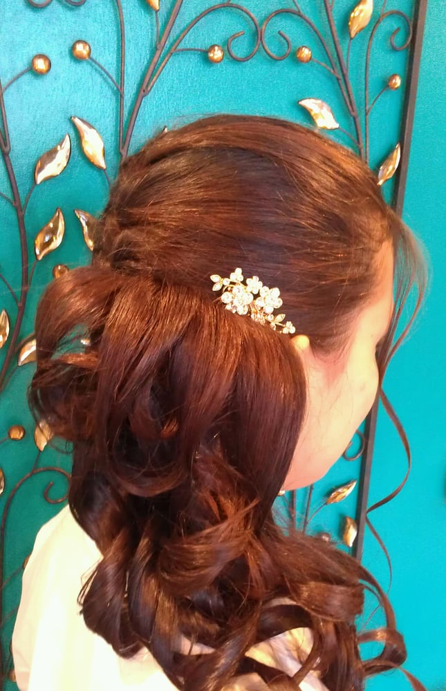 hair by Suzanne - side french braid with curls - Yelp