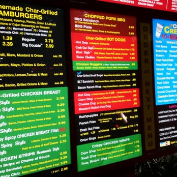 Cookout Food Menu