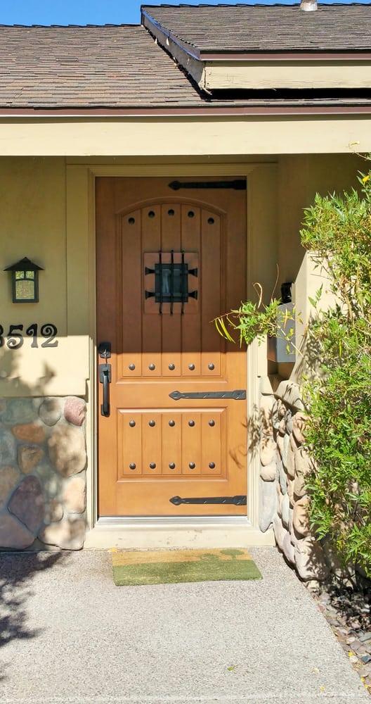 Classic craft rustic door, door was prepped to match customers door ...