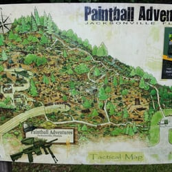Po Of Paintball Adventures Jacksonville Fl United States Tactical Map