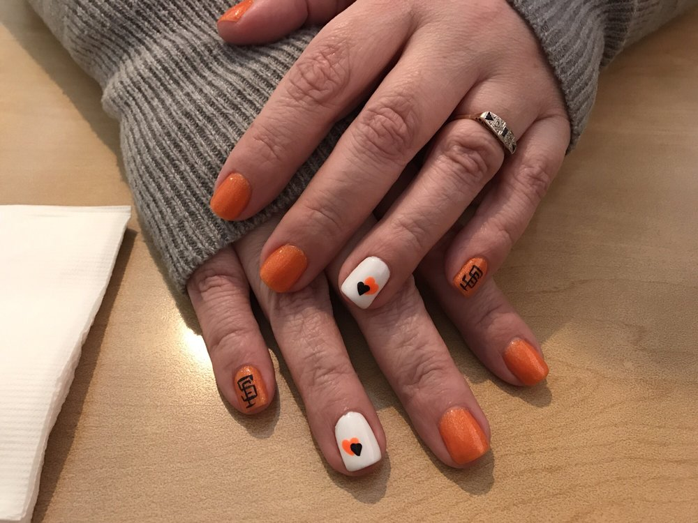 SF Giants nail art - Yelp