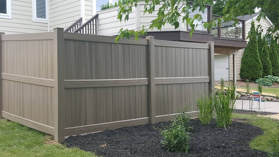 Green Teak Vinyl Fence Installed In Waterford Michigan By