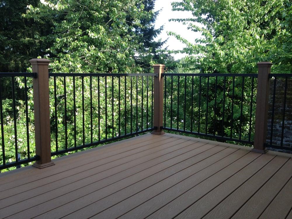 Composite Deck with Black Aluminum Railing - Yelp