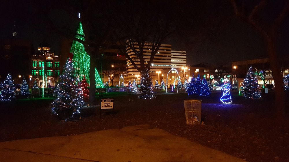 photo of cathedral square park milwaukee wi united states christmas lights at