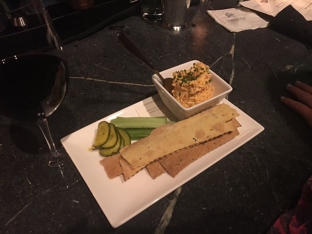 cheese and crackers pimento cheese with house made b amp b pickled celery and 30350