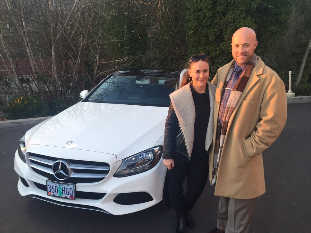 Thank you zlata and irina golberg for the lease of your for Mercedes benz of portland portland or