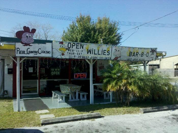 Willie S Bar B Que Closed Bbq Barbecue 740 9th St Winter Garden Winter Garden Fl