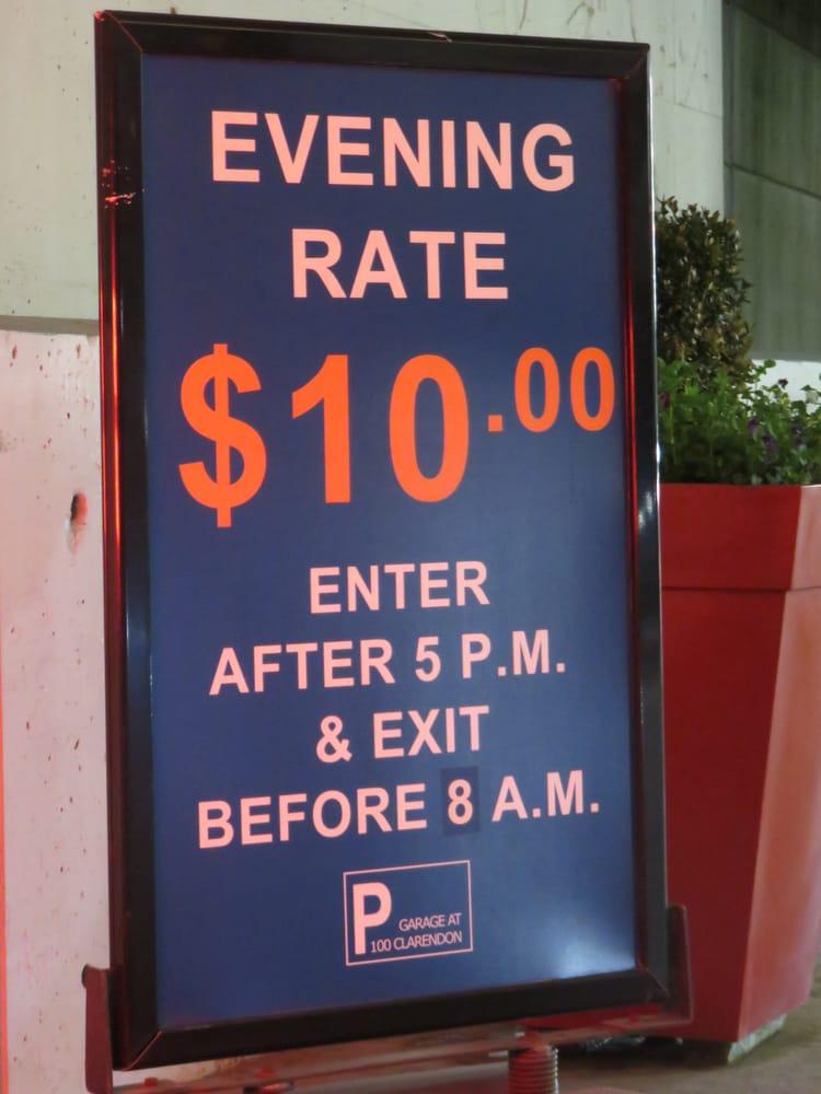 100 clarendon street garage 10 evening rate 5 2016 yelp - 100 clarendon street garage ...
