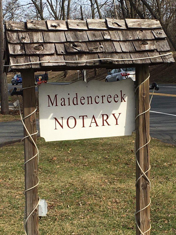 Maidencreek Notary: 857 Park Rd, Blandon, PA